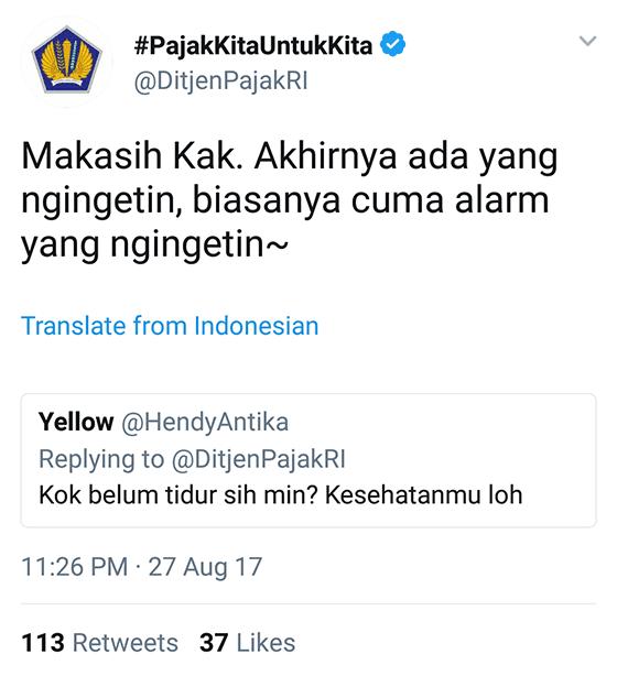 Tweet Kocak Ditjenpajakri 14