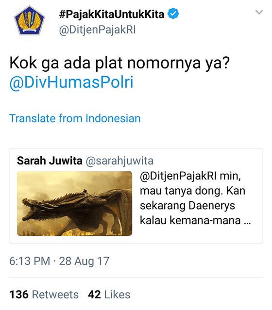 Tweet Kocak Ditjenpajakri 10