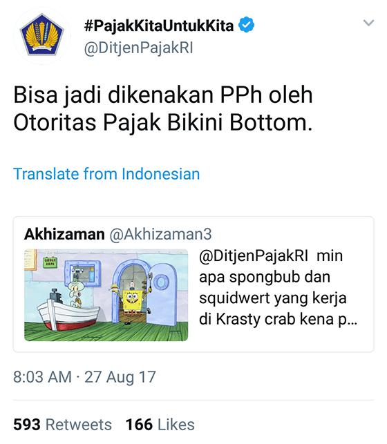 Tweet Kocak Ditjenpajakri 17
