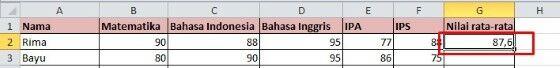 Cara Cepat Menghitung Rata Rata Di Excel 9f2ff