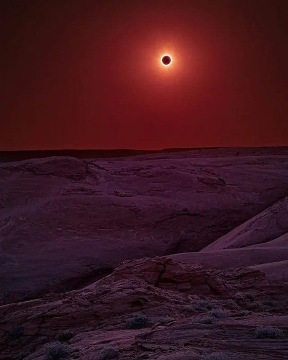 Gerhana Matahari Di Canyon De Chelly Arizona 73f54