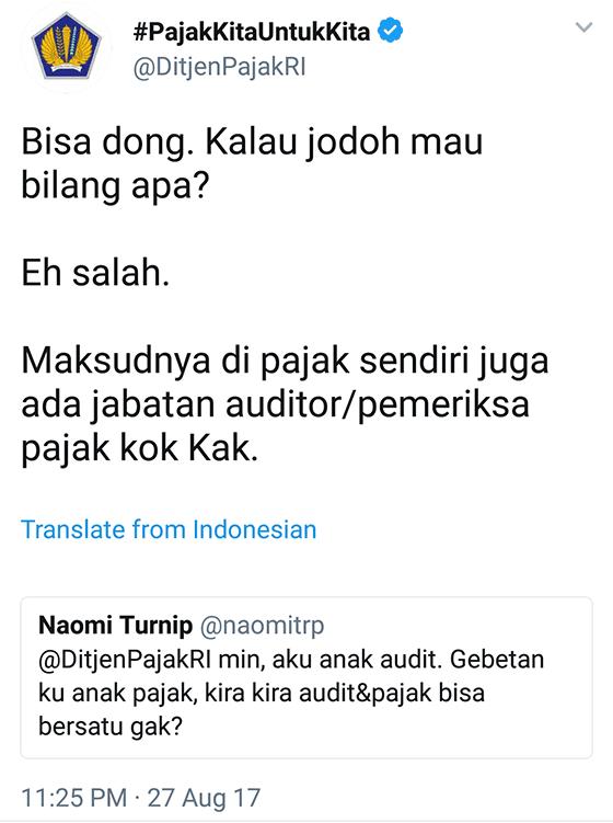 Tweet Kocak Ditjenpajakri 15
