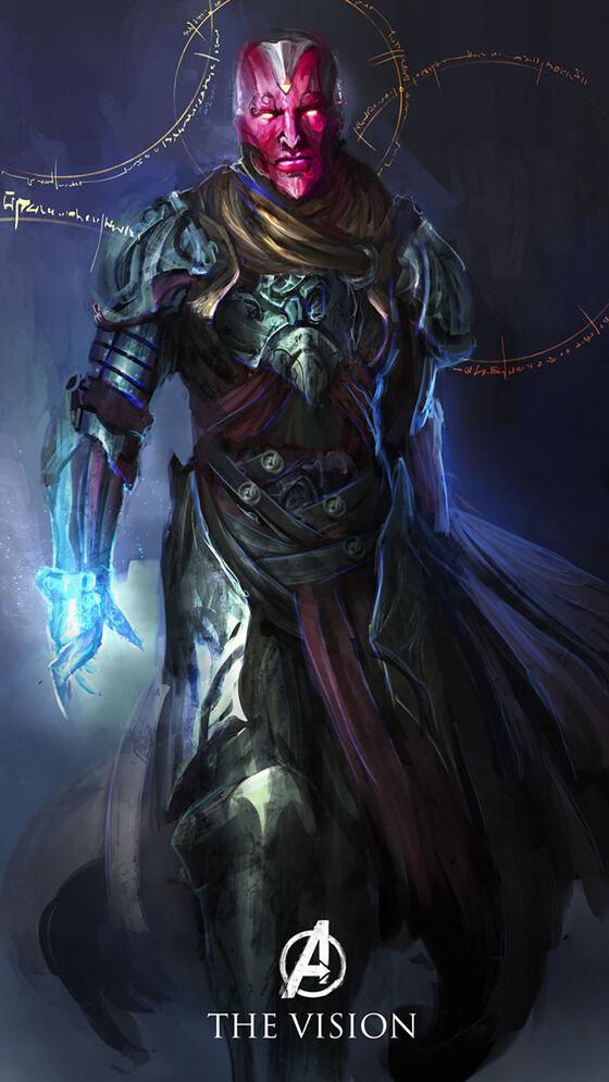 The Vision The Avengers Dewa Yunani