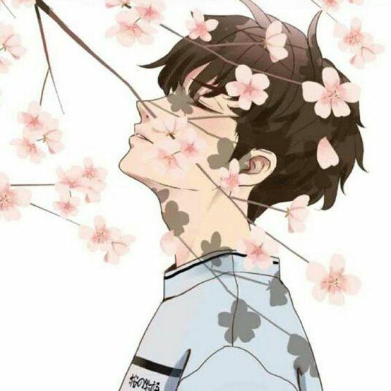 Gambar Anime Couple Keren Terpisah Sakura Tree 251a8