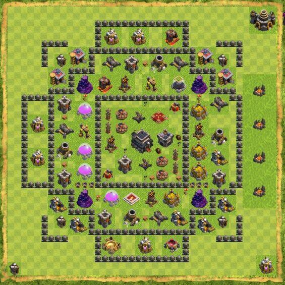 Base War Coc Th 9 17