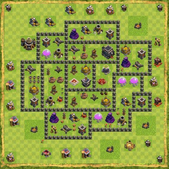 Base War Coc Th 9 18
