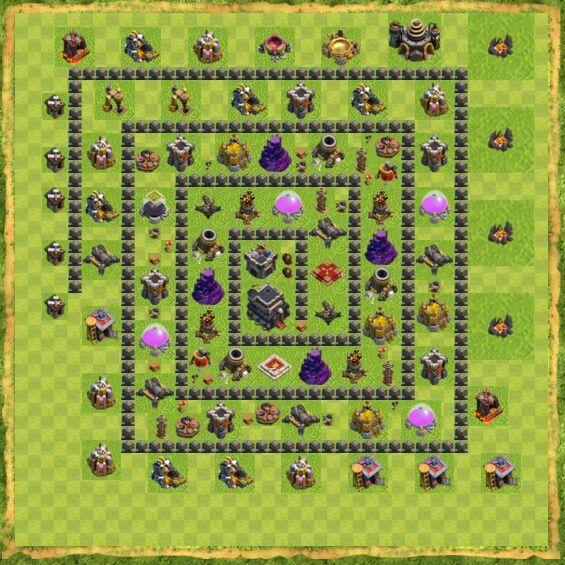 Base War Coc Th 9 2