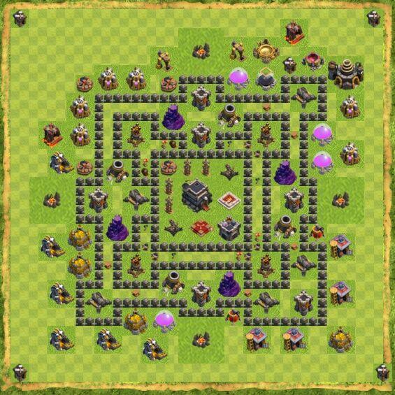 Base War Coc Th 9 22