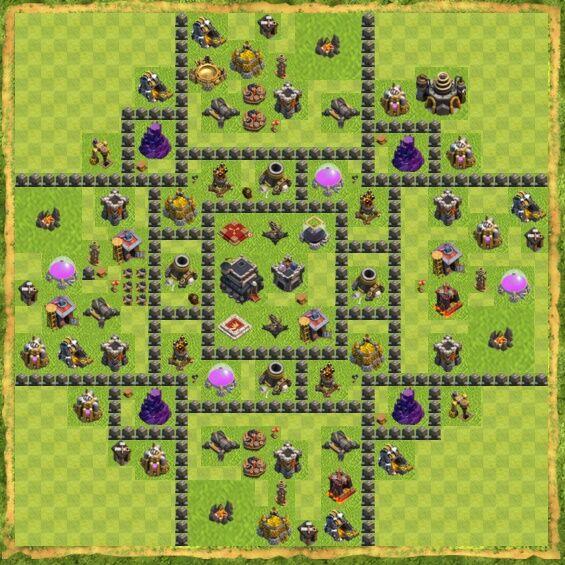 Base War Coc Th 9 38