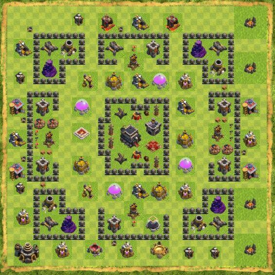 Base War Coc Th 9 4