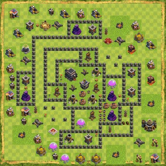 Base War Coc Th 9 42