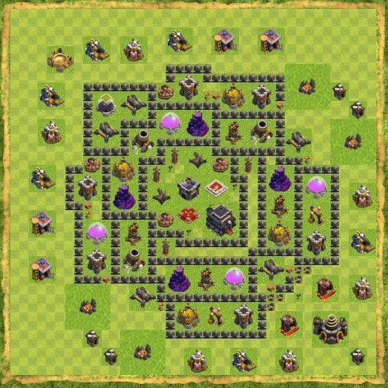 Base War Coc Th 9 44