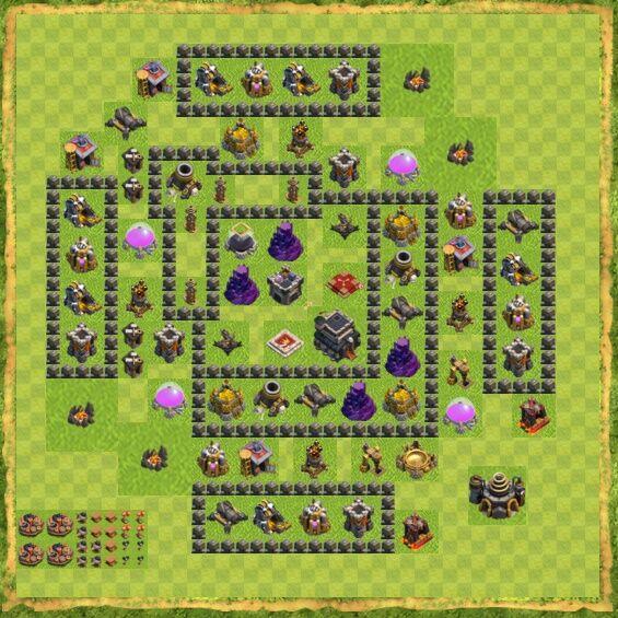 Base War Coc Th 9 51