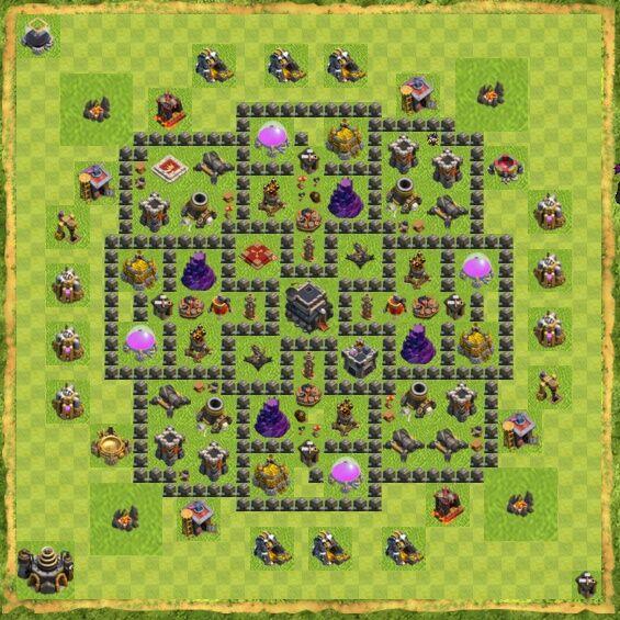 Base War Coc Th 9 6