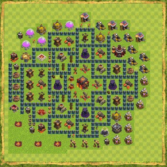 Base War Coc Th 10 11