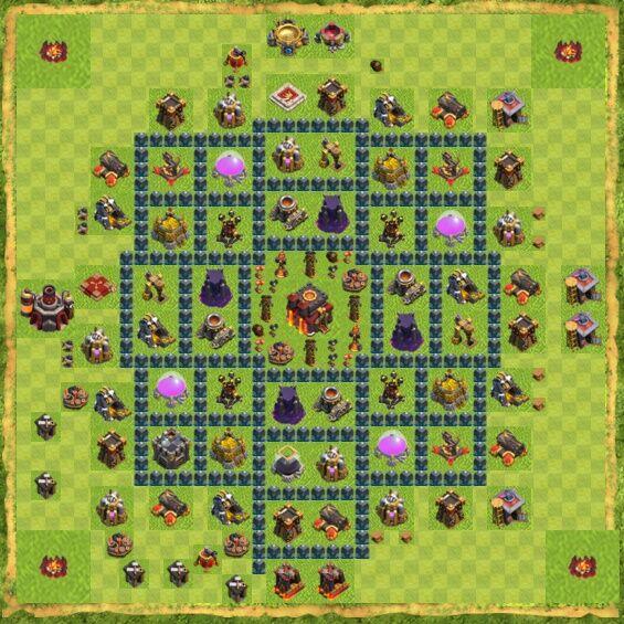 Base War Coc Th 10 17