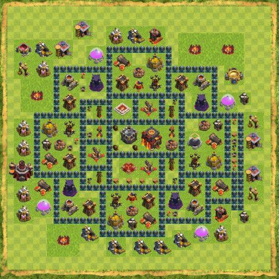 Base War Coc Th 10 19