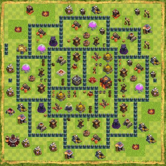 Base War Coc Th 10 20