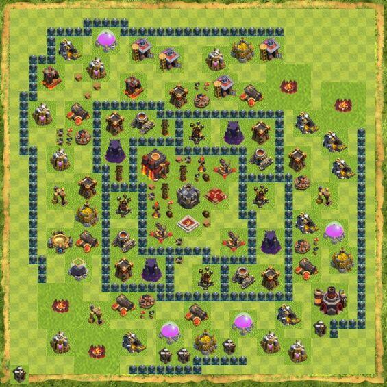 Base War Coc Th 10 27