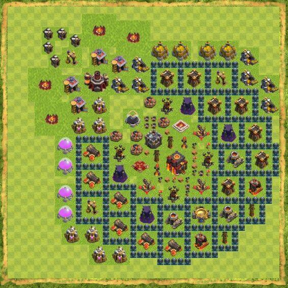 Base War Coc Th 10 35