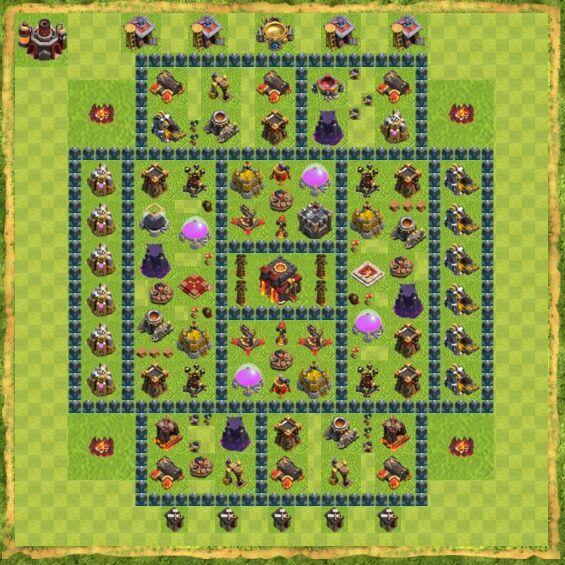 Base War Coc Th 10 8