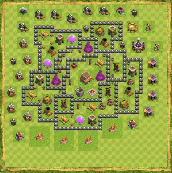 Base War Coc Th 8 11