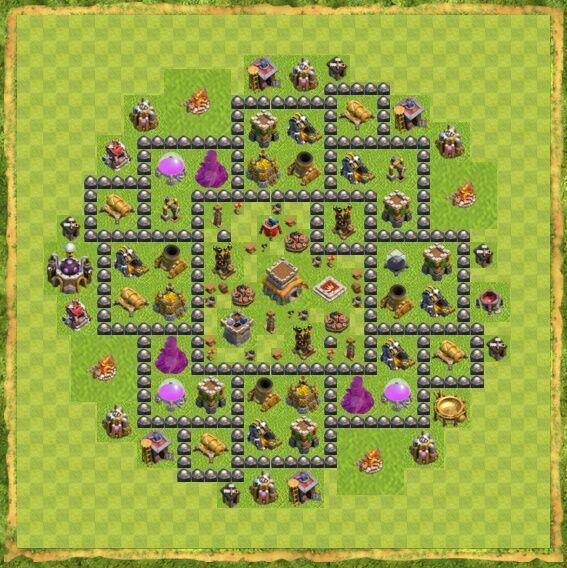 Base War Coc Th 8 12
