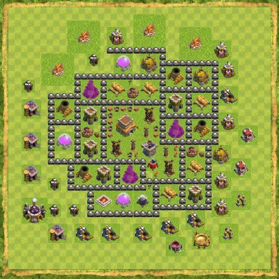 Base War Coc Th 8 15