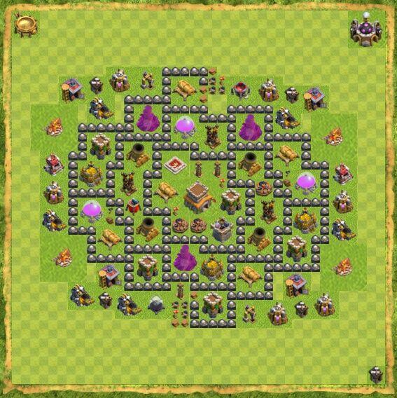 Base War Coc Th 8 18