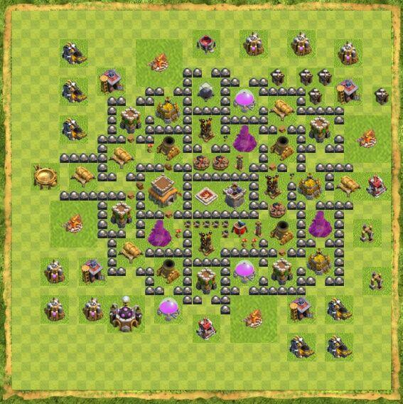 Base War Coc Th 8 19