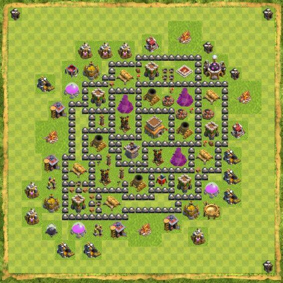 Base War Coc Th 8 2
