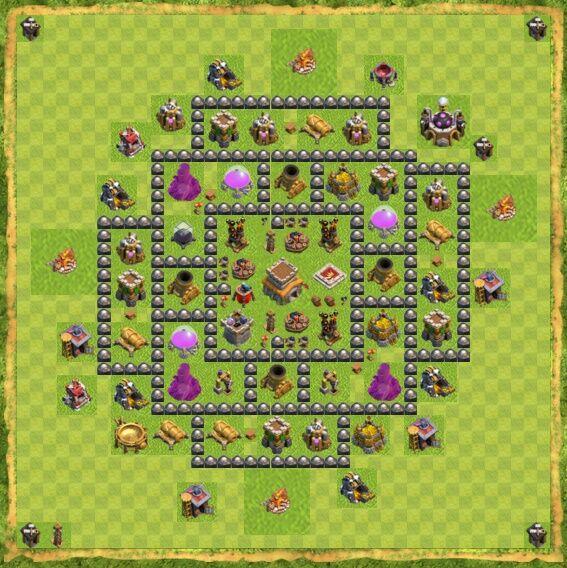 Base War Coc Th 8 20