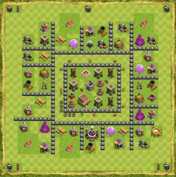 Base War Coc Th 8 21