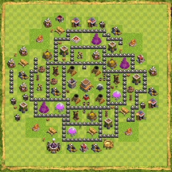 Base War Coc Th 8 22