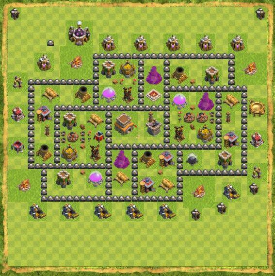 Base War Coc Th 8 23