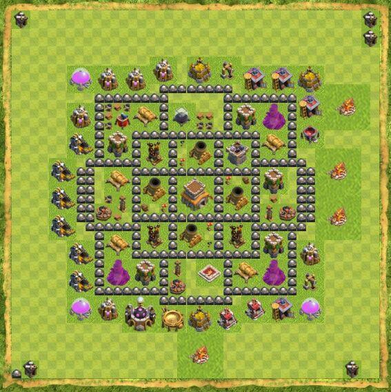 Base War Coc Th 8 25