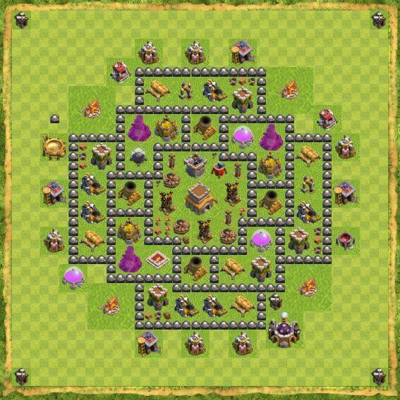 Base War Coc Th 8 26