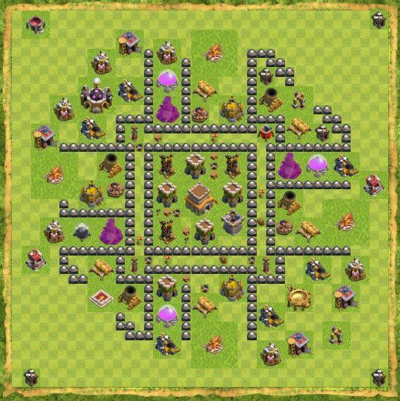 Base War Coc Th 8 27