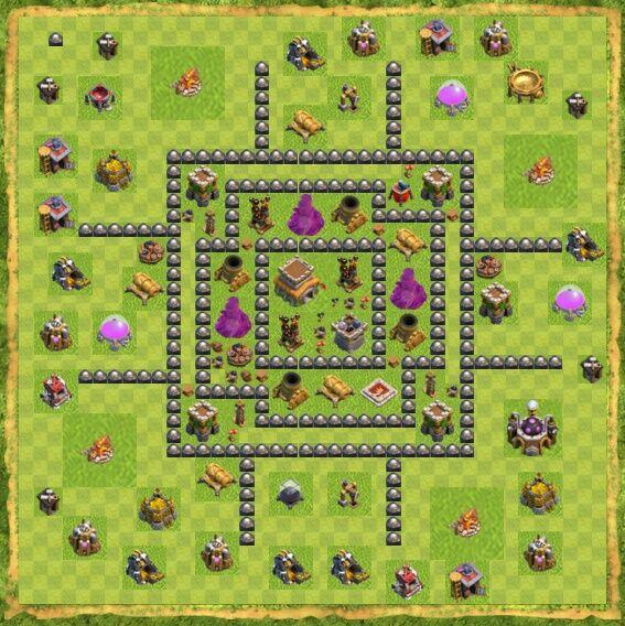 Base War Coc Th 8 29