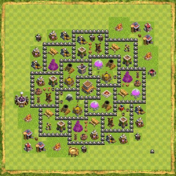 Base War Coc Th 8 4