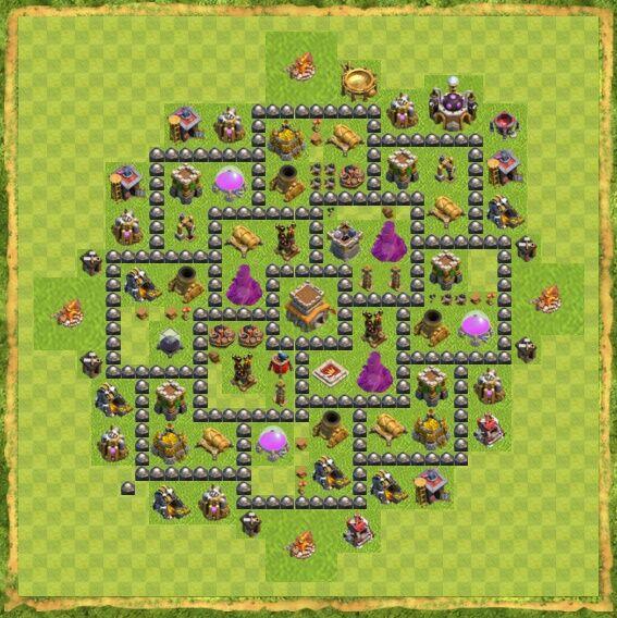Base War Coc Th 8 5