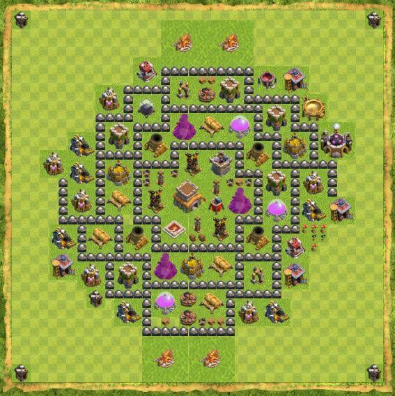 Base War Coc Th 8 7