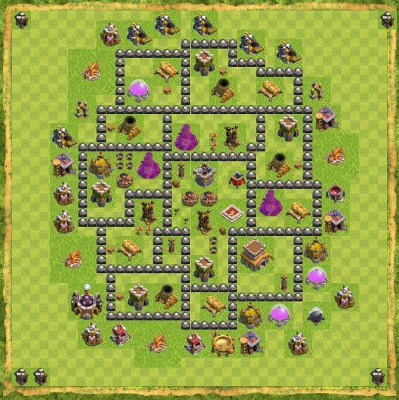 Base War Coc Th 8 9