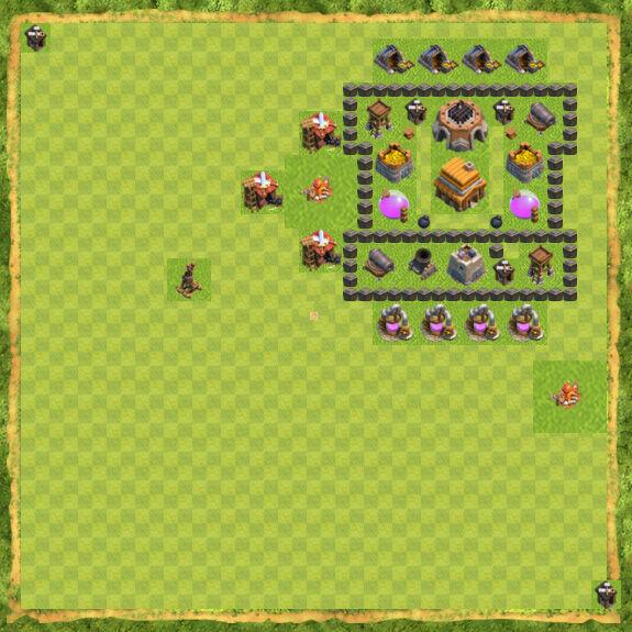 Base Defense Coc Th 4 16