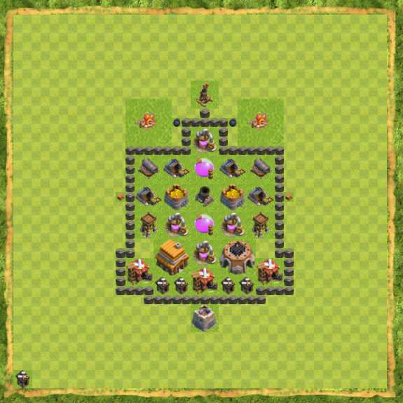 Base Defense Coc Th 4 18