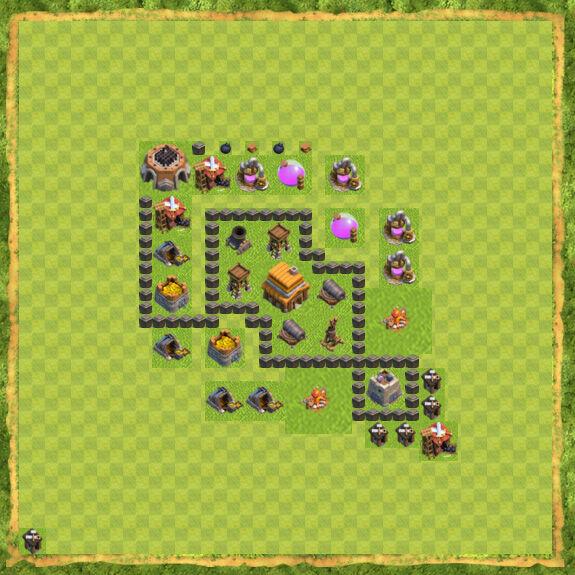 Base Defense Coc Th 4 4
