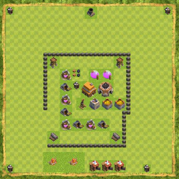 Base Defense Coc Th 4 9