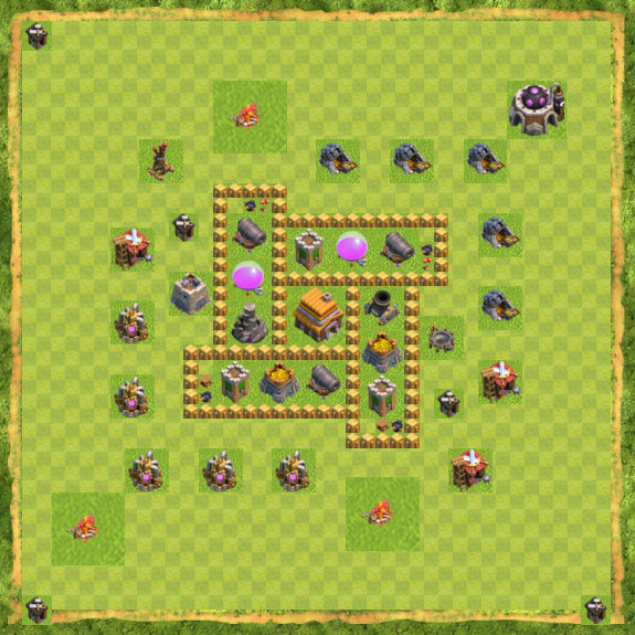 Base Defense Coc Th 5 12