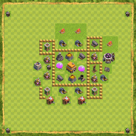 Base Defense Coc Th 5 17