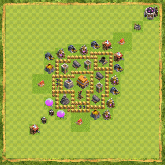 Base Defense Coc Th 5 20